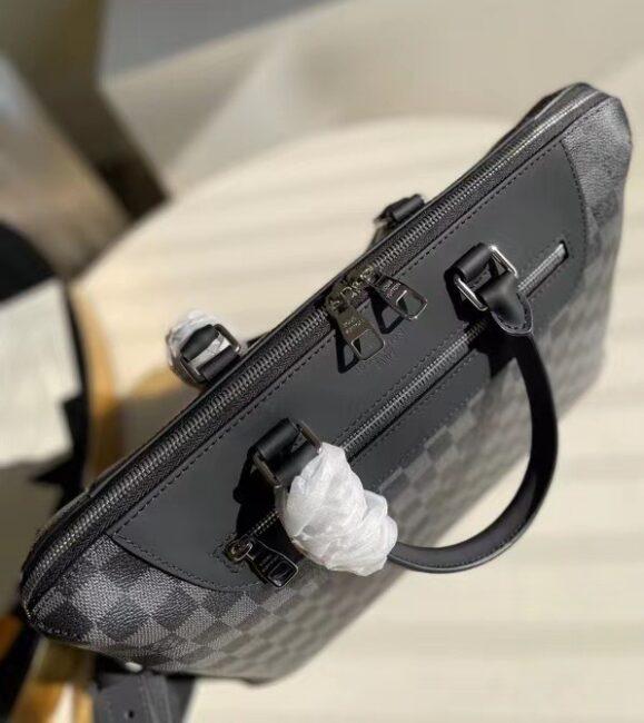 Túi Xách Louis Vuitton Porte-Documents Jour Damier Graphite Caro đen TXLV12