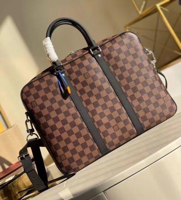 Túi Xách Louis Vuitton Porte-Documents Voyage PM màu nâu Like Au TXLV09