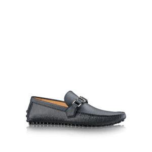Giày lười Louis Vuitton siêu cấp Hockenheim Moccasin màu đen GLLV23