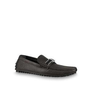 Giày lười Louis Vuitton siêu cấp Hockenheim Moccasin Taiga GLLV22