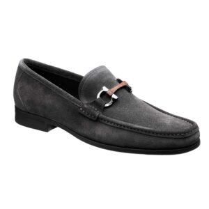 Giày lười Salvatore Ferragamo Grandioso Gancini Suede Loafers da lộn GSF11