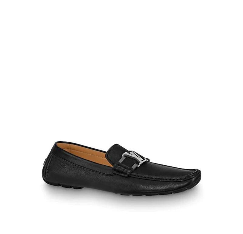 Giày lười Louis Vuitton Like Au Monte Carlo Moccasin màu đen GLLV03