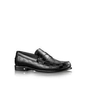 Giày lười Louis Vuitton Like Au Graduation Loafer Shoes màu đen GLLV20