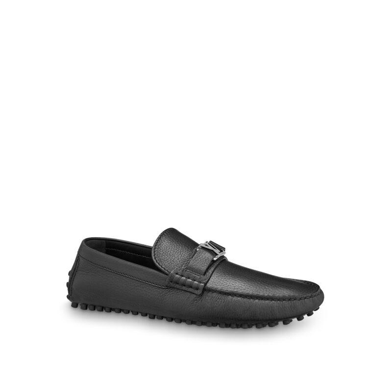 Giày lười Louis Vuitton Like Au Hockenheim Mocassin Shoes da nhăn GLLV14