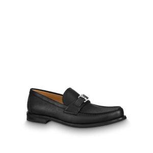 Giày lười Louis Vuitton Like Au Major Loafer Shoes màu đen GLLV19