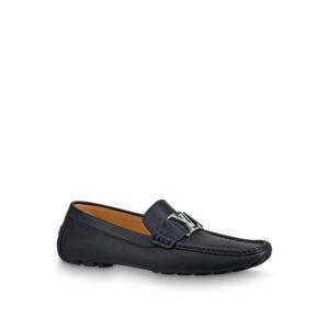 Giày lười Louis Vuitton siêu cấp Monte Carlo Moccasin màu đen GLLV17