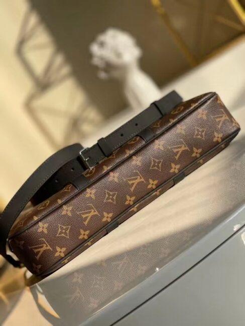 Túi Xách Louis Vuitton Monogram Macassar Canvas Porte hoa nâu Like Au TXLV10