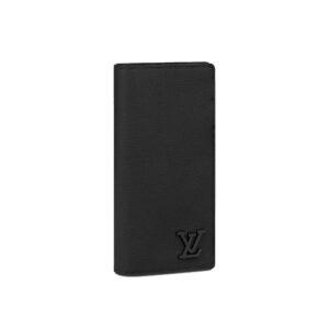 Ví Louis Vuitton Aerogram Brazza Wallet màu đen VNLV10