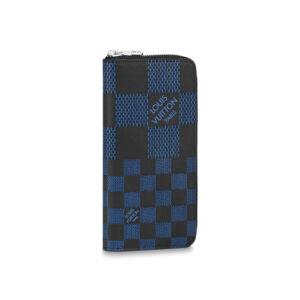 Ví nam Louis Vuitton siêu cấp Wallet Vertical màu xanh VNLV04