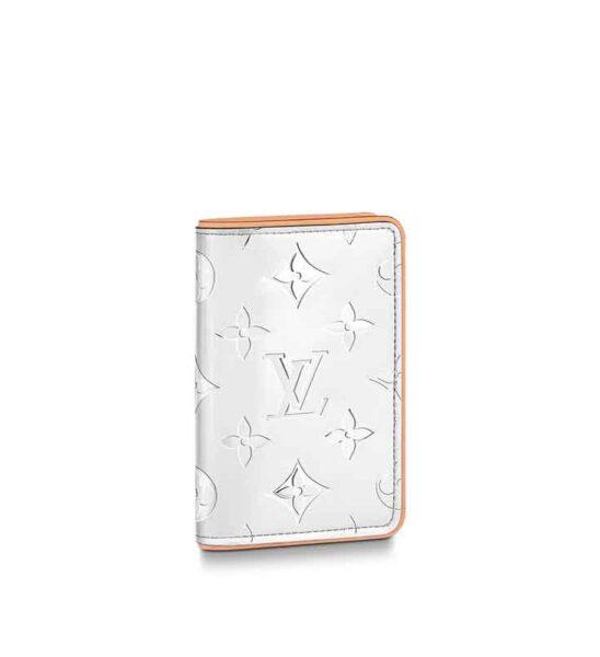 Ví Card Louis Vuitton siêu cấp Slender Pocket Organizer hoa bạc