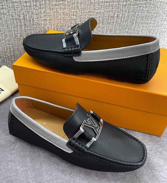 Giày lười Louis Vuitton siêu cấp họa tiết tag trắng