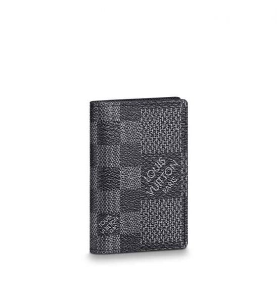 Ví nam Louis Vuitton siêu cấp Pocket Organizer Caro màu xám