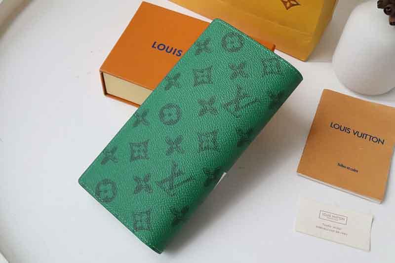 Ví dài Louis Vuitton siêu cấp Brazza Wallet màu xanh VLV17